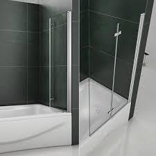 180 pivot hinge 2 fold folding double glass shower screen over bath door panel u