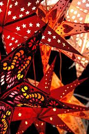 Papier Stern Weihnachtsstern Hängend 60cm 9 Zackig Rot Ohne Kabel