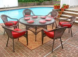 resin wicker dining set 60 round antique brown
