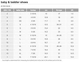 Baby Toddler Shoe Size Chart From Target Toddler Shoe