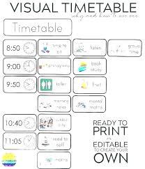 Calendar Template Visual Schedule Middle School High Of