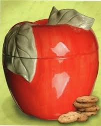 How To Decorate A Cookie Jar Vintage Apple Cookie Jar 100100 Via Etsy Just Like The One At 37