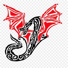 белая линия логотип картинки племенной дракон Png скачать 900