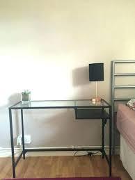 ikea vittsjo laptop table laptop table glass black cm height top white stand ikea vittsjo