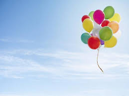 Colorful Bunch Of Balloons Floating In The Sky Photographic Print By Luxx Images Art Com