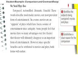 example of a compare contrast essay compare contrast essay introduction examples comparison paragraph