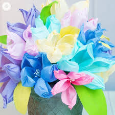 Paper Flower Bouquet Tutorial Easy Crepe Paper Flowers How To Make A Paper Flower