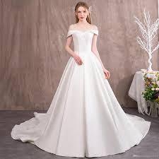 Wedding Dress Plus Size Chart Discount Wedding Dresses Plus Sizes Satin Beading White Ivory Wedding Ball Gowns Bridesmaid Dresses Vintage Vestidos De Novia Long Sleeve Wedding
