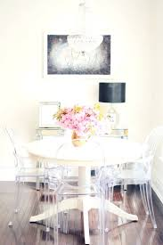 acrylic dining room chairs. Dining Chairs: Trendy Round Perspex Table And Chairs Customer Designed White Dinning Clear Acrylic Room I