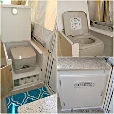 shannon s pop up camper makeover the pop up princess pop up camper toilet
