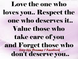 Love The One Who Loves You Status
