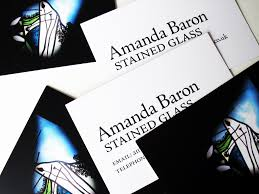 James Brook Design Business Cards For Amanda Baron Stained Glass