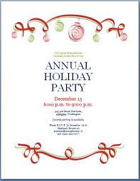 Company Christmas Party Invite Template Holiday Party Template Under Fontanacountryinn Com
