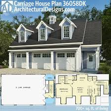 carriage house plans 3 car garage best of 30 best garage and carriage house plans images