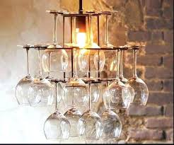 wine glass chandelier pottery barn ideas art for wine glasses contemporary chandeliers