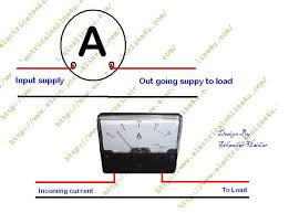 ac ammeter wiring diagram ac wiring diagrams how to wire ammeter for dc and ac ampere measurement