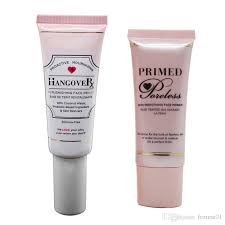 hot new hangover face primer silicone free foundation primer with coconut water primed faceless stock dhl gift makeup for oily skin non edogenic