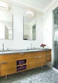 mid century modern bathroom vanity. Vanities: Mid Century Vanity Bathroom Modern With Double Flush Cabinets Image By Laurie Lieberman
