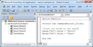 Excel Macro Comments - Easy Excel VBA