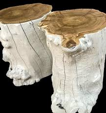 tree stump side tables african