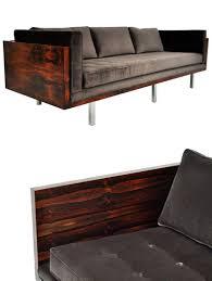 rustic wooden sofa design. Wonderful Rustic Vintage Rosewood Milo Baughman Sofa  1stDibs Intended Rustic Wooden Design D