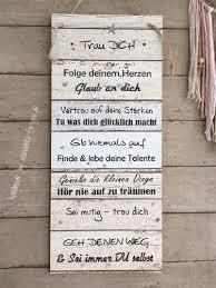 Trau Dich Vintage Spruchtextschild Sprüche Holzschilder Vintage