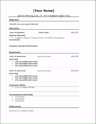 Resume Template For Highschool Students Blackbackpub Com