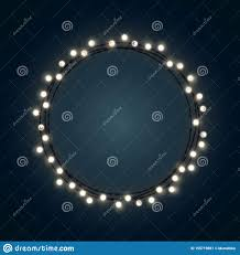 Wreath With Blue Lights White Christmas Incandescent Light String Wreath On The Dark