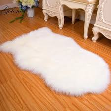 plush soft faux sheepskin rug super fluffy gy silky carpet fur area for bedroom living room 6 colors faux sheepskin area rug