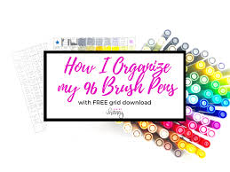 Tombow Dual Brush Pen Blank Color Chart Tombow Dual Brush Pen Set Organizer Free Printable Life