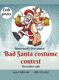 Santa Watermark Watermark Bar Grille St Clair Shores Michigan