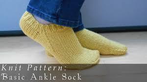 Sock Knitting Pattern Fascinating Basic Ankle Sock Knit Pattern YouTube