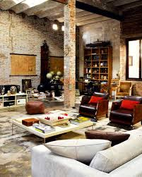 loft rug. furniture:cool apartment loft with british rug and guitar also brick wall industrial furniture