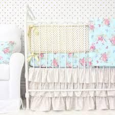 caden lane emma s blue and gold fl 2 piece crib beddi