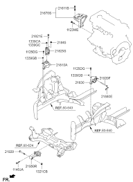 21810 2v500 genuine hyundai bracket assy engine mtg 2011 hyundai veloster engine transaxle mounting diagram 20216a11