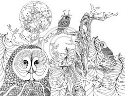 The Night Owls Coloring Pages Colouring