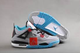 jordan shoes retro 4. buy air jordan 4 retro grey blue red black shoes