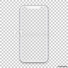 template phone white mobile concept with empty screen for any application