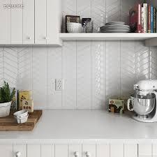 Kitchen Wall And Floor Tiles Chevron White 186x52 Architecture Architect Bath