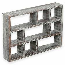 brown mygift small rustic wood display