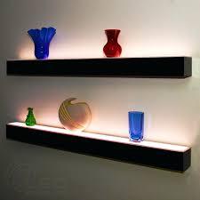 Led Floating Glass Shelves Floating Glass Shelves With Led Lights Led Floating Glass Shelves 18