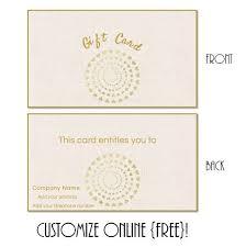 Online Gift Card Maker Birthday Gift Certificate Templates Grace