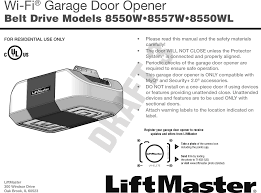 Garage Door liftmaster garage door opener manual photos : 1D8169-1 MyQ - Garage Door Opener User Manual 114A4831 Chamberlain ...