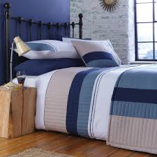 Chartwell Boston Striped Blue Single Bed Cover Set Departments