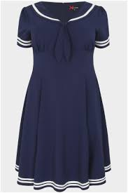 54 good pictures of navy blue fit and flare dress