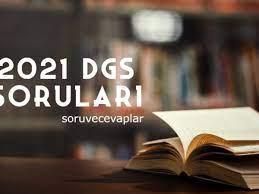 Dikey Geçiş Sınavı 2021 DGS Soruları ve Cevapları ÖSYM