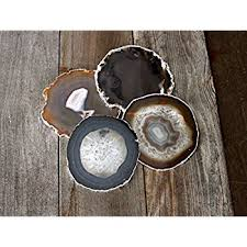 airblasters black color 354 inch natural sliced agate coaster set of 4 grey agate coasters66