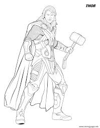 Endgame, you have more 2 famous superheroes: Thor From The Avengers Coloring Pages Printable