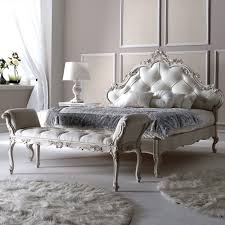 white upholstered beds. Italian Carved Rococo Button Upholstered Bed White Beds T