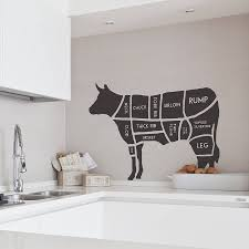 Butcher\u0027s Cow Wall Sticker | Cow, Wall sticker and Walls
